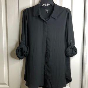Mossimo size XXL black adjust sleeve blouse EUC
